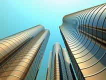 Drie hoge gebouwen Royalty-vrije Stock Fotografie