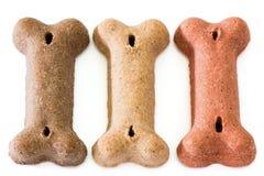 Drie Hondebrokjes Stock Fotografie