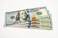 Drie honderd dollars van de V.S. Stock Afbeeldingen