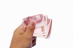 Drie honderd Thaise Baht Stock Foto