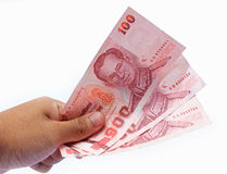 Drie honderd Thaise Baht Royalty-vrije Stock Fotografie
