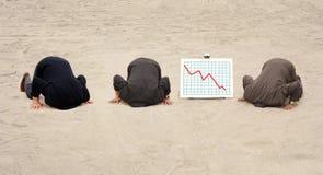 Drie hoofden in het zand Royalty-vrije Stock Fotografie