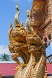 Drie hoofden Naga Royalty-vrije Stock Foto