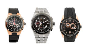 Drie horloges Stock Afbeelding