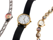 Drie horloges Stock Foto