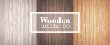 Drie houten achtergronden stock illustratie