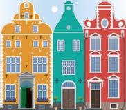 Drie huizen Royalty-vrije Stock Foto's