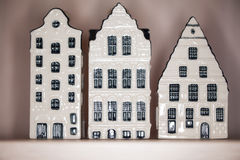 Drie huizen Stock Foto