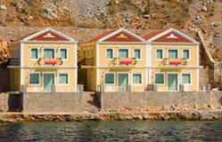 Drie huizen voor verkoop Royalty-vrije Stock Afbeelding
