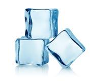 Drie ijsblokjes royalty-vrije stock afbeeldingen