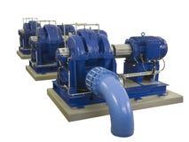 Drie industriële compressoren op een rij Royalty-vrije Stock Fotografie