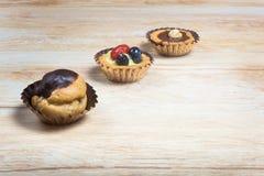 Drie Italiaanse gebakjes royalty-vrije stock afbeeldingen