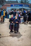 Drie Jonge Amish-Meisjes Royalty-vrije Stock Foto's
