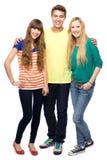 Drie jonge mensen Royalty-vrije Stock Foto