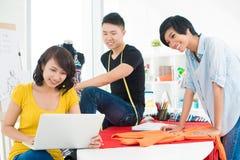 Drie jonge ontwerpers royalty-vrije stock foto