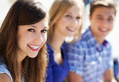 Drie jonge vrienden Stock Fotografie