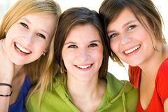 Drie Jonge Vrouwen Royalty-vrije Stock Foto