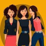 Drie Jonge Vrouwen Stock Foto's