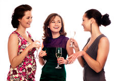 Drie Jonge Vrouwen Royalty-vrije Stock Fotografie