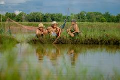 Drie jongensvrienden Stock Fotografie