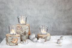 Drie kaarsen stock foto's