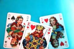Drie kaarten Stock Afbeelding