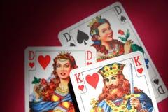 Drie kaarten Royalty-vrije Stock Foto