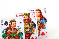 Drie kaarten Royalty-vrije Stock Fotografie