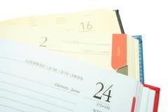 Drie kalenders Stock Foto's