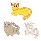 Drie katten Stock Illustratie