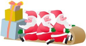 Drie Kerstman Royalty-vrije Stock Afbeeldingen