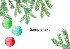 Drie Kerstmisballen Royalty-vrije Stock Foto