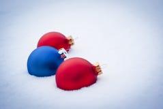 Drie ballen op wit Royalty-vrije Stock Fotografie