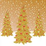 Drie Kerstmisboom Stock Fotografie