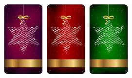 Drie Kerstmisetiketten stock illustratie