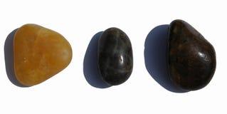 Drie kiezelstenen royalty-vrije stock afbeelding