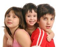 Drie kinderen Stock Foto's