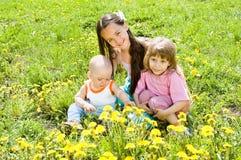 Drie kinderen Stock Afbeeldingen