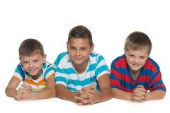 Drie kinderen Royalty-vrije Stock Foto