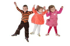 Drie kinderen liggende hoogste mening 3 Stock Afbeeldingen