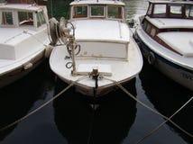 Drie kleine boten Stock Afbeelding
