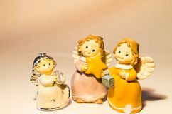 Drie kleine engelen Royalty-vrije Stock Fotografie