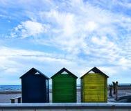 Drie kleine huizen Stock Foto