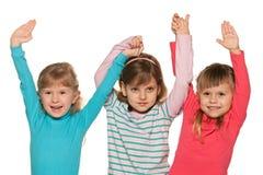De kleine meisjes van het trio stock fotografie