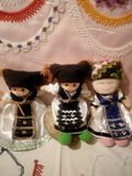 Drie kleine poppen stock fotografie
