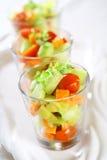 Drie kleine salades Royalty-vrije Stock Afbeeldingen