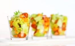 Drie kleine salades Stock Foto's