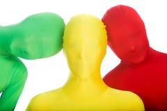 Drie kleuren, drie mensen Stock Afbeelding