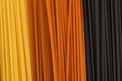 Drie kleurendeegwaren Royalty-vrije Stock Afbeelding