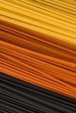 Drie kleurendeegwaren Royalty-vrije Stock Fotografie